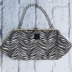 1154 Lill Studio purse chain zebra print adorbs